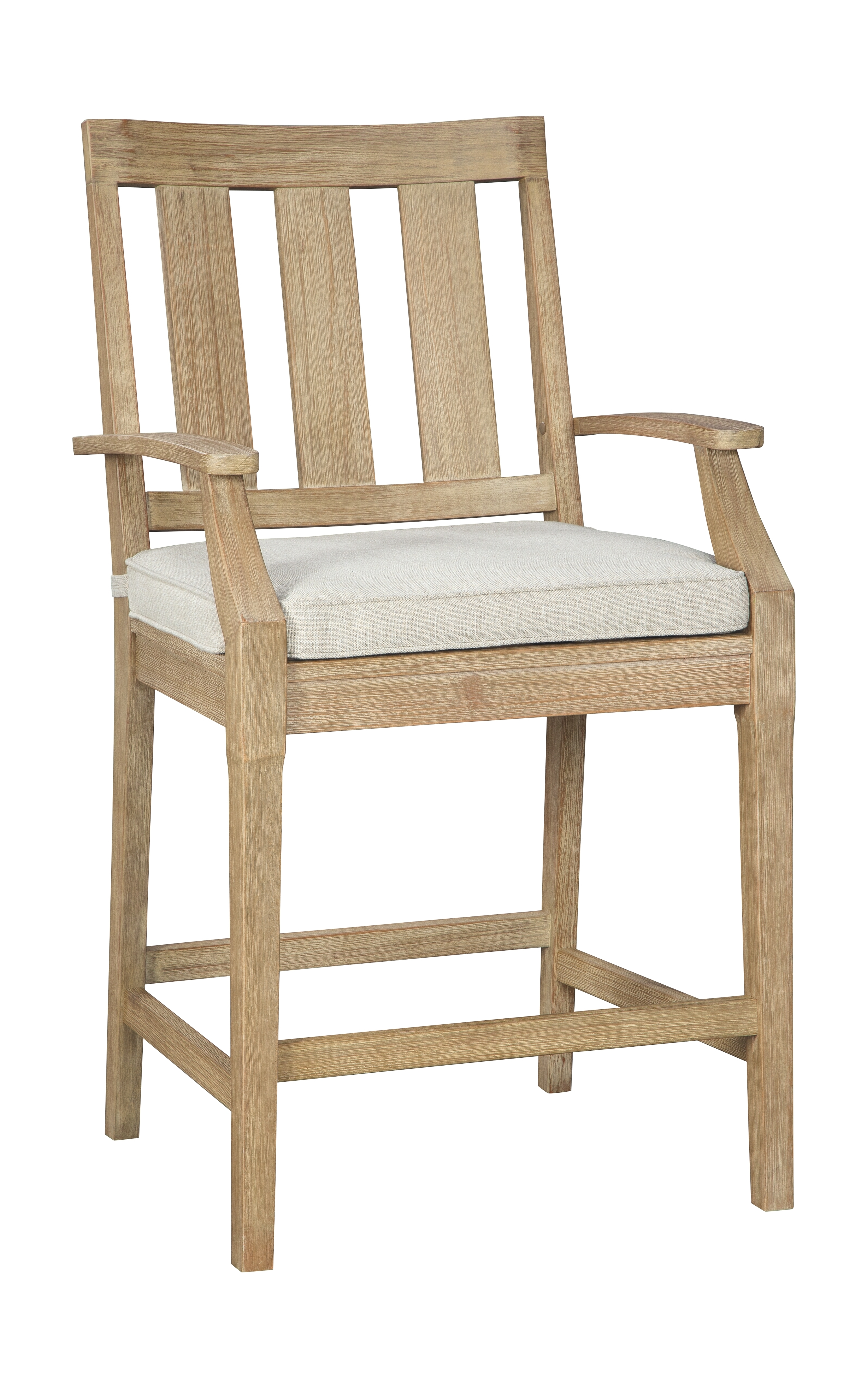 Clare View - Beige - Barstool with Cushion (2/CN ... on Clare View Beige Outdoor Living Room id=78002
